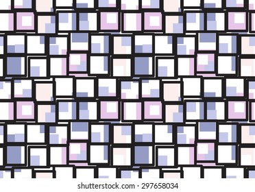 Graphic Tiled Squares Grid Seamless Pattern