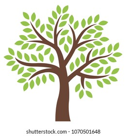 Graphic tree icon vector illustration.