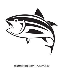 graphic tuna fish, vector