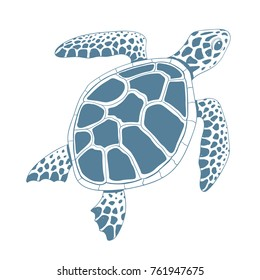 Graphic turtle. Vector illustration.