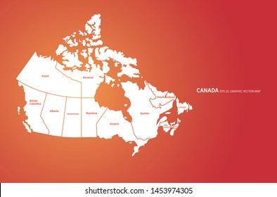 graphic vector of canada map