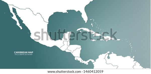 Graphic Vector Caribbean Countries Map Central Stock Vector ... on