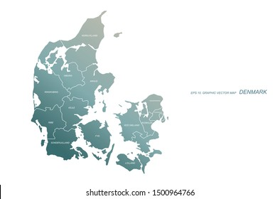 graphic vector of denmark map. europe countries map.