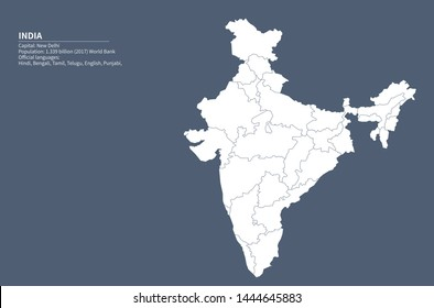 India Map Images, Stock Photos & Vectors   Shutterstock