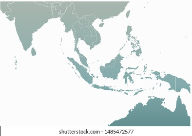 graphic vector map of philippines and indonesia. south asia countries map.