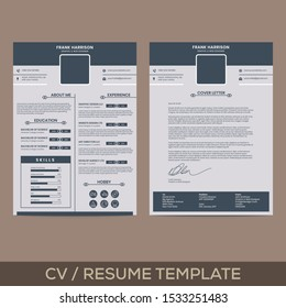 Graphic and WEB Designer Two Page Resume Template