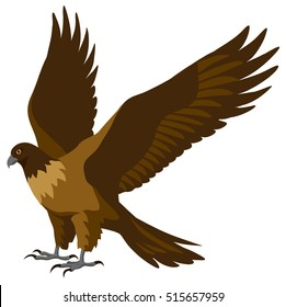 graphical illustration of a Falcon with spread wings