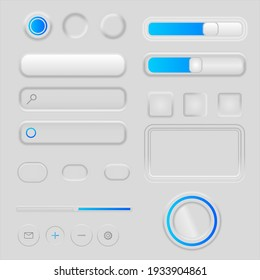 Graphical interface with buttons and indicators.