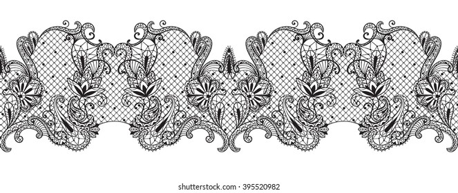 graphical lace ornament