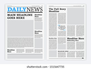 Graphical Layout Newspaper Background Template