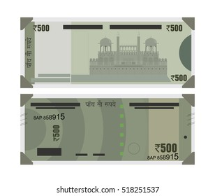 Graphical Representation of new Rs. 500 Indian Currency Note