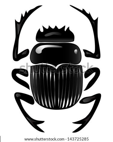 Graphical Representation Scarab Beetle Egyptian Symbol Stock Vector