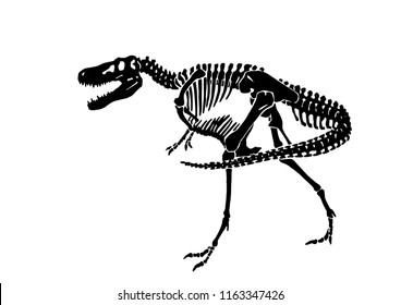 Graphical skeleton of tyrannosaurus isolated on white background,vector sketch for tattoo and printing