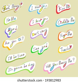 Graphical text typography and wording calligraphy font icon in handwriting illustration, create by vector