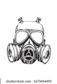 Graphical virus protection mask isolated on white background, vector illustration, pandemic element