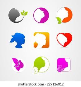 Graphics design icon face set