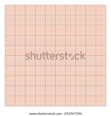 Graphpaper Template Drawing Paper 10 X 10 Orange Stock Vector ...