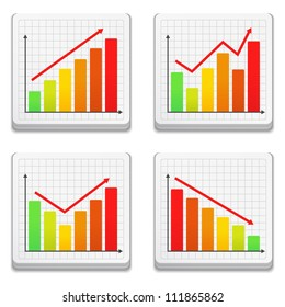 Graphs icons, vector eps10 illustration