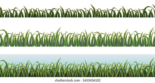 grass vector images stock photos vectors shutterstock https www shutterstock com image vector grass horizontal seamless pattern vector illustration 1653436102