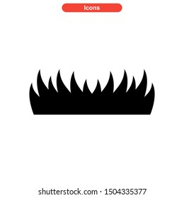 grass icon isolated sign symbol vector illustration - high quality black style vector icons