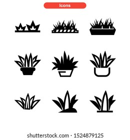grass icon isolated sign symbol vector illustration - Collection of high quality black style vector icons