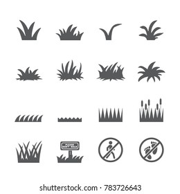 Grass icon set