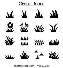 Grass icon set illustration graphic design