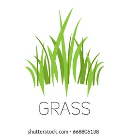 Grass icon. Silhouette of plants for logo or sign.