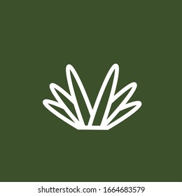 grass icon vectorn, nature grass on green background, vector design ilustration