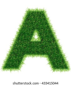 Grass A letter for SALE word