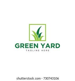 grass logo design template