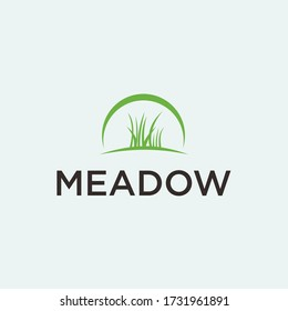 grass logo / meadow vector