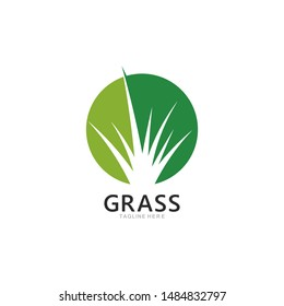 Grass logo template vector icon illustration design
