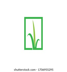 Grass logo vector template illustration design