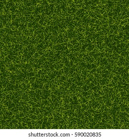 Grass seamless pattern. Fresh lawn texture. Perfect green grass carpet. Nature ecology backdrop for your design. Vector illustration