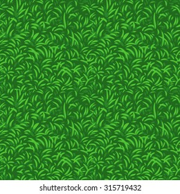 Grass seamless vector pattern.