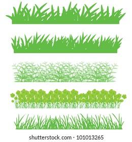 grass, shrubs
