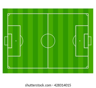 Grass Soccer / Football field isolated on white background