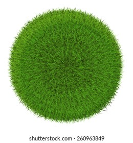 Grass sphere - green planet symbol. Isolated on a white background (eps 10)