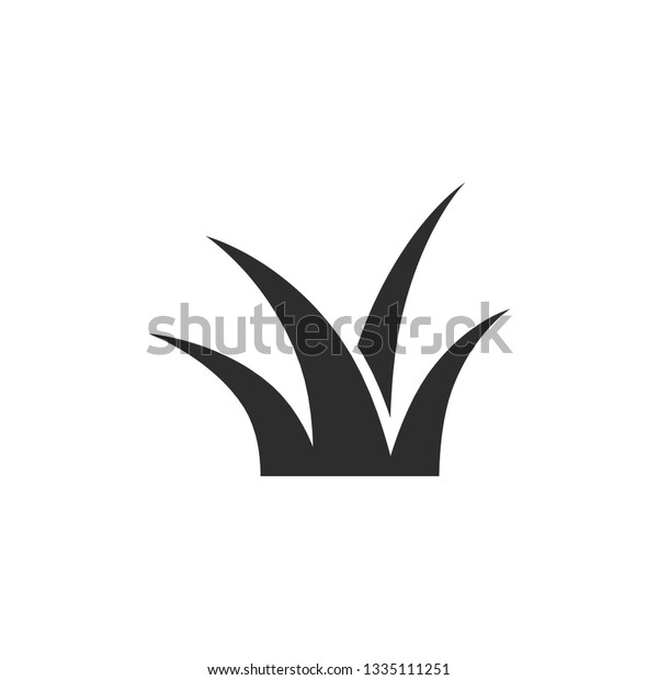 grass vector icon on white background stock vector royalty free 1335111251 shutterstock