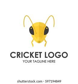 Grasshopper, cricket insect logo