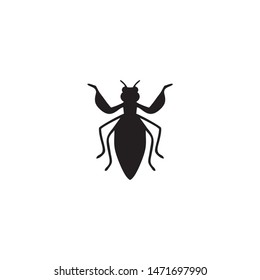 grasshopper icon silhouette vector illustration
