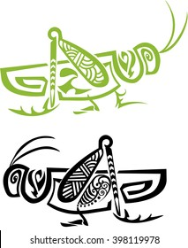 Grasshopper stylized, tribal