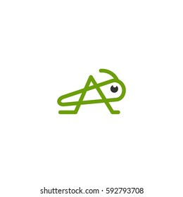 grasshopper vector icon