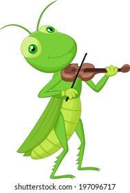 Grasshopper with a Violin