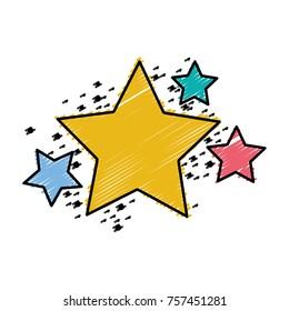 grated shiny stars space glitter design