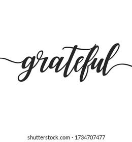 grateful motivational print wall art calligraphy typography vector design