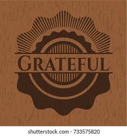 Grateful wood emblem. Vintage.