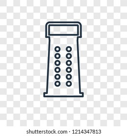 Grater concept vector linear icon isolated on transparent background, Grater concept transparency concept in outline style