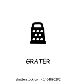 Grater flat vector icon. Hand drawn style design illustrations.